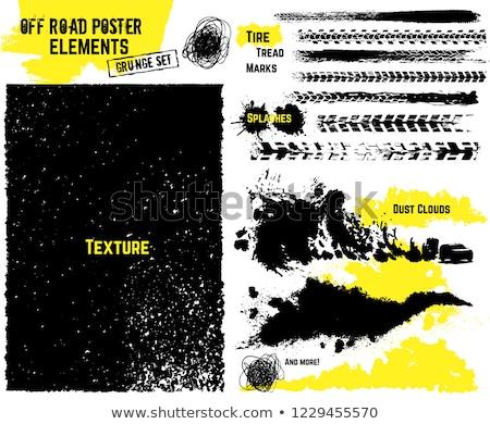 Zdjęcia stock: Opon · grunge · żółty · samochodu · drogowego · sportu