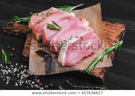 Nyers disznóhús vesepecsenye friss senki fehér háttér Stock fotó © Digifoodstock