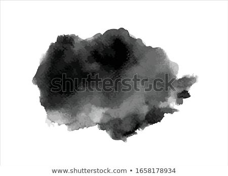 Aquarel zwarte grijs banners ingesteld Stockfoto © pakete