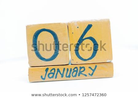 Stock photo: Cubes 6th January