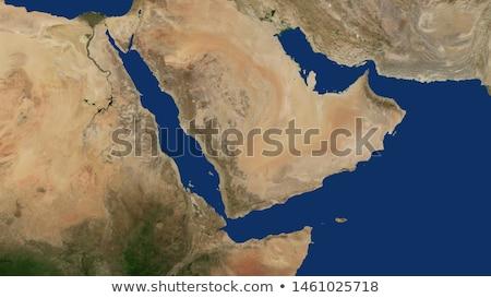 Йемен красный орбита пространстве цвета 3d иллюстрации Сток-фото © Harlekino