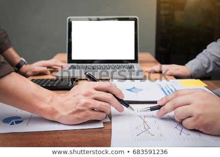 Business meeting  in outdoor. documents account managers crew wo Stock photo © snowing