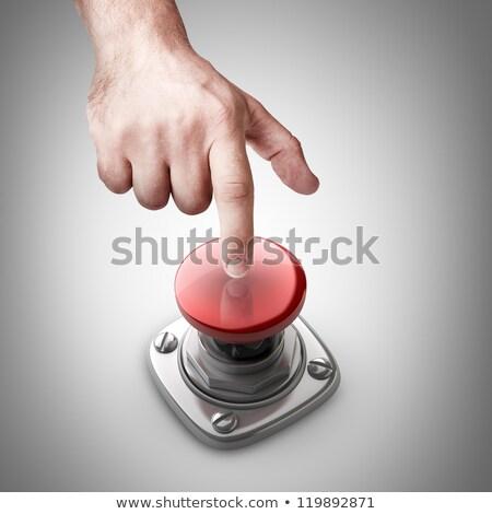 Dikkat düğme 3D alüminyum klavye seçilmiş Stok fotoğraf © tashatuvango