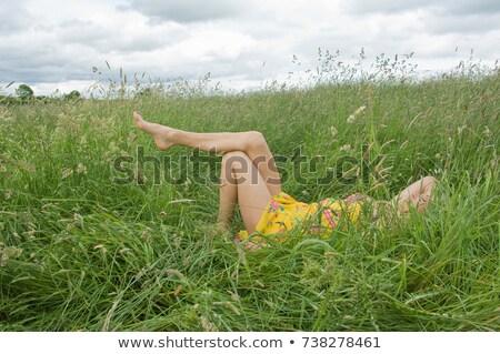женщину области ног лет цвета Сток-фото © IS2
