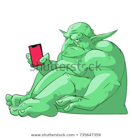 интернет большой зеленый монстр ноутбука компьютер Сток-фото © popaukropa