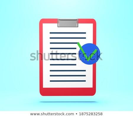 Business verzekering tekst 3D calculator Stockfoto © tashatuvango