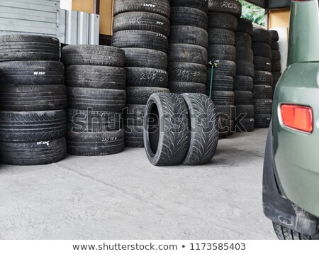 Used car tyres stack Stock photo © stevanovicigor