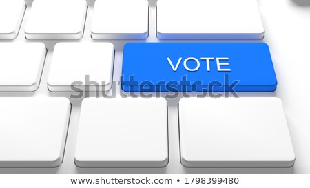 Keyboard with Blue Keypad - Vote. Stock photo © tashatuvango