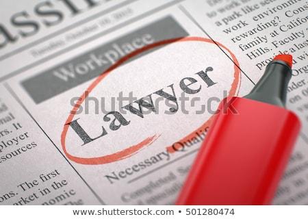 juge · verdict · image · papier · homme · bois - photo stock © tashatuvango