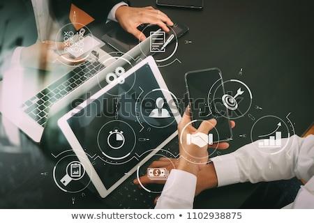Javít produktivitás laptop képernyő közelkép leszállás Stock fotó © tashatuvango