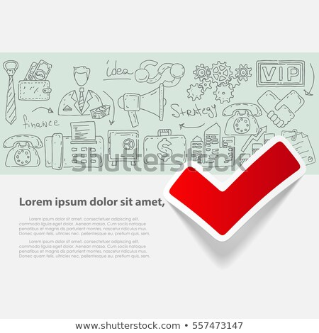 Nuovo tendenza doodle icone lavagna manoscritto Foto d'archivio © tashatuvango