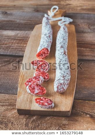 Secar salchicha espanol delgado secado tabla de cortar Foto stock © Digifoodstock