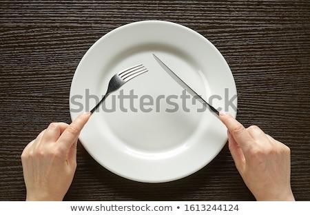 ножом вилка белый продовольствие инструментом Сток-фото © Digifoodstock