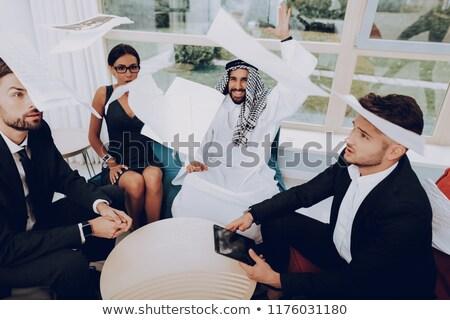 арабский · бизнесмен · деньги · воздуха · одежды - Сток-фото © studioworkstock