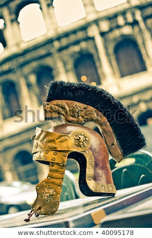 Copy of ancient helmet of Roman legionnaire Stock photo © stefanoventuri