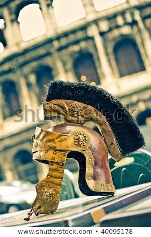 ローマ · 兵士 · 剣闘士 · 槍 · 実例 · 男 - ストックフォト © stefanoventuri