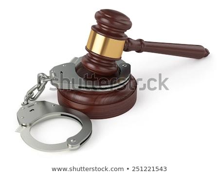 houten · kam · armband · geïsoleerd · witte · vrouw - stockfoto © iserg