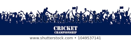 Cricketers celebrating Stock photo © IS2