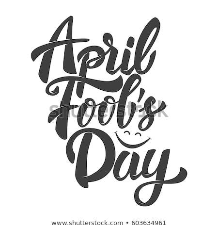 Greeting Card Template for April Fool's Day Stock photo © lissantee