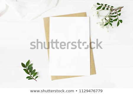 Fehér boríték meghívó vázlat papír posta Stock fotó © Akhilesh