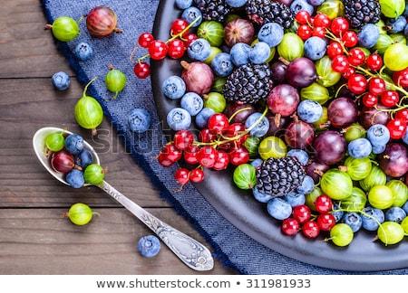 Dieet voedsel bessen ontbijt concept BlackBerry Stockfoto © M-studio