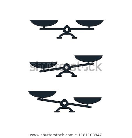 Scale Balance Vector Icon Flat Design Stock photo © rizwanali3d
