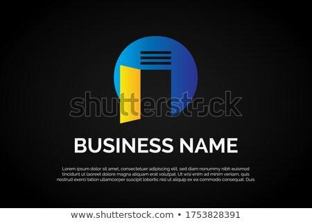 Stockfoto: Huis · logo · teken · sjabloon · gebouw