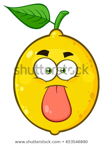 Drôle jaune citron fruits cartoon visage Photo stock © hittoon