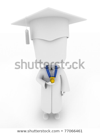 Graduate Proudly Showing His Medal Stock photo © lenm