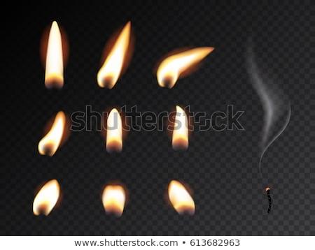 キャンドル 炎 暗闇の中 4 異なる 距離 ストックフォト © bryndin