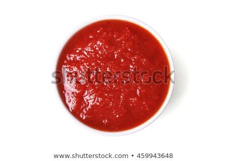 ketchup · isolato · bianco · vernice · colore · pomodoro - foto d'archivio © ungpaoman