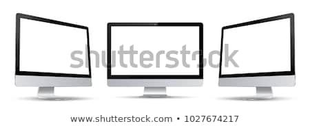 Számítógép három sablon fehér átlátszó monitor Stock fotó © romvo
