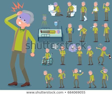 Tipo verde colete conjunto família Foto stock © toyotoyo
