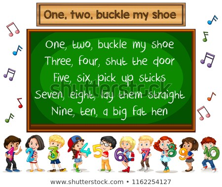 One two buckle my shoe song blackboard concept Stock photo © bluering