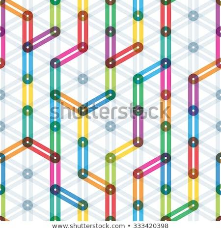 Kleurrijk metro station vector illustratie geïsoleerd Stockfoto © cidepix