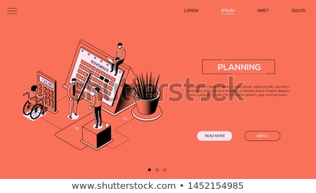 Efficient planning - colorful line design style illustration Stock photo © Decorwithme