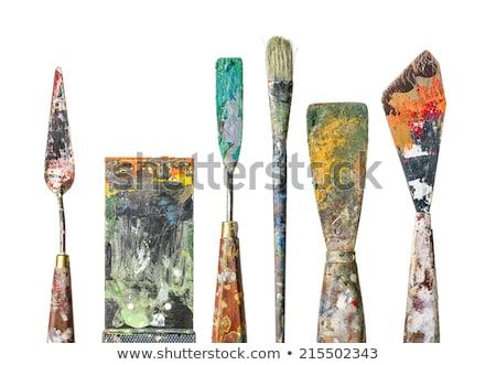 Palet messen schilderij borstel creativiteit Stockfoto © dolgachov