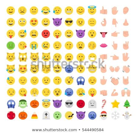 Halloween Emojis Set Flat Vector Stock photo © Voysla
