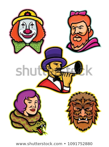 Circus Freak Snake Lady Mascot Stock photo © patrimonio