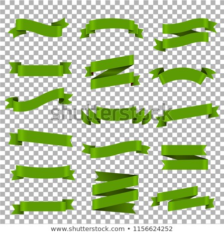 Big Green Ribbons Set Transparent Background Stock photo © barbaliss