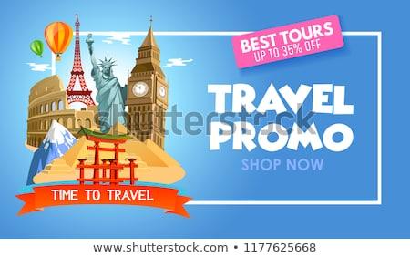 Viaggio illustrazione set promo turistica Foto d'archivio © robuart