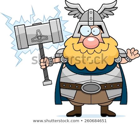 Cartoon Thor Waving Stock photo © cthoman