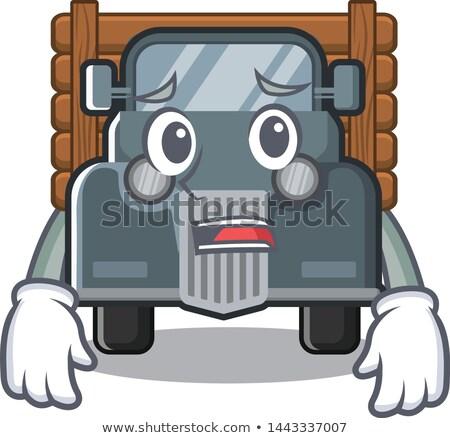 Scared Cartoon Pickup Truck Stock photo © cthoman