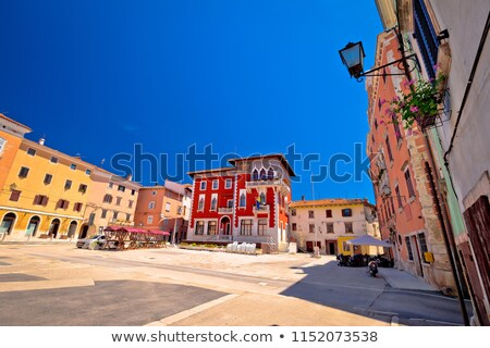 town of vodnjan church square view stock photo © xbrchx