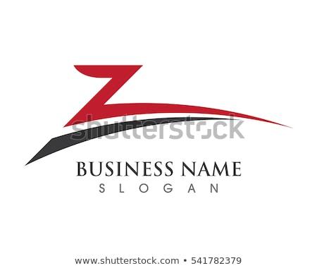 Brief pijlen vector icon logo achtergrond Stockfoto © blaskorizov