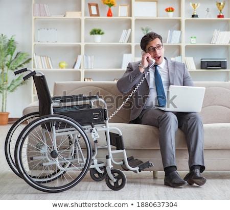 сотрудник · коляске · ноутбука · бизнеса · человека · таблице - Сток-фото © elnur