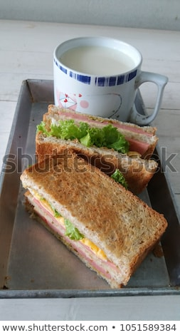 сыра Бутерброды соя завтрак здорового Сток-фото © zoryanchik