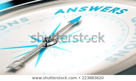 Compass on White Background, FAQ Concept Stock photo © make