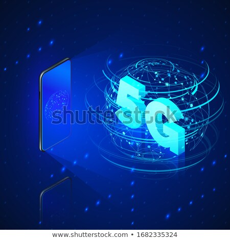 3d text 5G wireless communication technology Stock photo © nasirkhan