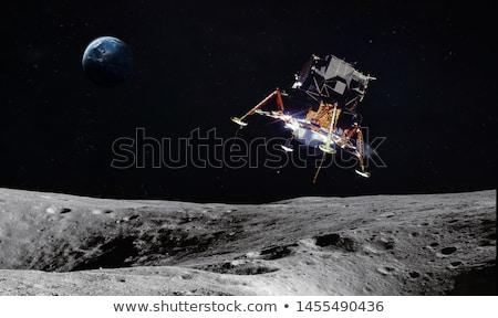 Astronave aterrizaje luna superficie ilustración textura Foto stock © colematt